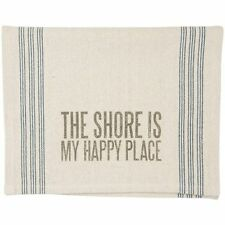 """""""THE SHORE IS MY HAPPY PLACE""""  Dish or Hand Towel"""