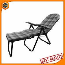 SEDIA a SDRAIO pieghevole poltrona relax reclinabile imbottita lettino giardino