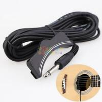 new Acoustic Guitar Amplifier Soundhole Pickup 6.3mm Jack 5M Cable #JC