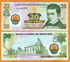 Honduras, 20 Lempiras, 2008, (2010) P-95, UNC >>> POLYMER