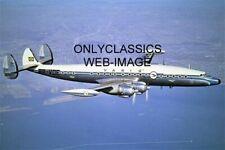 Varig Pp-voe Super Constellation Aerial 8x12 Photo Four Engine Airplane Aviation