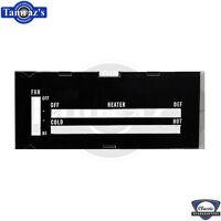 73-79 Camaro Dash Heater Vent NO A/C Temperature Fan Control Face Plate Lens