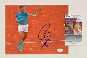 Rafael Nadal Signed 8x10 Tennis Photo Autographed JSA COA