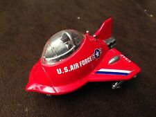 US AIR FORCE JET FIGHTER EGG F-16?? AIRPLANE WITH LIGHTS AND SOUNDS RARE RED!!!