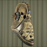 62855) Afrikanische Ibo Holz Maske Nigeria Afrika KUNST