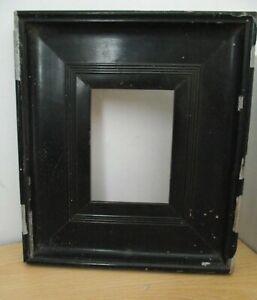 OLD BLACK VINTAGE WOODEN PHOTO FRAME/DECORATIVE WOOD PICTURE FRAMES/COLLECTABLE