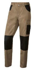 Mens Work Trousers With Knee Pads Pockets Elasticated Waistband Combat Cargo