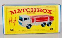 Matchbox Lesney  No 58 Daf Girder Truck Repro E style Empty Box