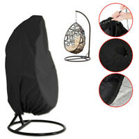 Waterpoof Hanging Swing Chair Cover Rattan Egg Seat Protect Garden Patio Black