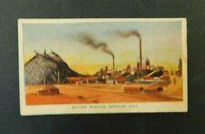 c1940 Hoadleys Trade Card Birth of a Nation #33 Silver Broken Hill Australiana