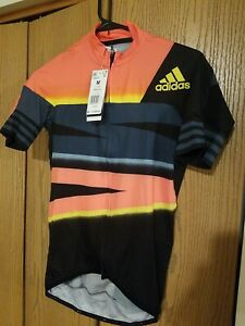 Adidas Adistar Cycling Ciclismo Form Fitting Jersey FJ6573 Solar Red Size-Med
