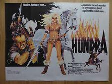HUNDRA (1983) - original UK quad film/movie poster, action, adventure, thriller