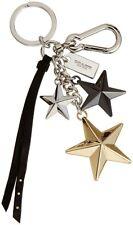 NWT Coach Multi Colored Metal Stars Key Chain Fob Key Ring Bag Charm 63619