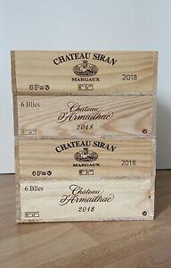 weinkisten-4x Leere Weinkiste- Deko-Château a' Armailhac-Chateau Siran Margaux-