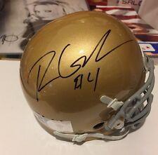 Ryan Grant signed Notre Dame Irish Mini Helmet with PSA / COA