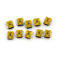10x Mini USB Type B Female Socket 5 Pin Right Angle DIP Jack Connector C&H