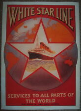 Olympic White Star Line Liverpool advertising poster