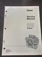 Onan MCCK RCCK Industrial Diesel Engine Workshop Shop Service Repair Manual Book