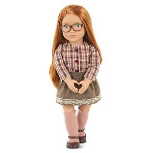 Our Generation April Red Hair Green Eyes Glasses 18 inch OG Doll Set NEW
