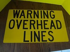 "RAILROAD ""WARNING OVERHEAD LINES"" Track Sign DM&IR 24"" x 14"" Original FAST S/H"