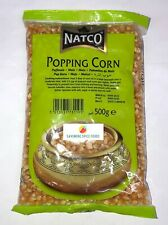 POPPING CORN - POPCORN - POP CORN - MAIZE - SEEDS - KERNELS  - NATCO - 2 x 500g