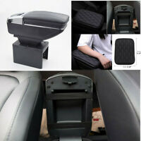Car Central Container Armrest Box + Texture Arm Pad PU Leather Car Accessories