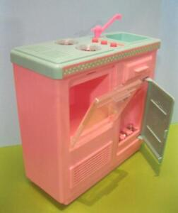 Barbie Doll Size 1996 RV MOTORHOME Replacement KItchen SINK Stove w Sound Lights