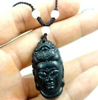 100% Chinese jade hand-carved the statue of guanyin PENDANT W-22