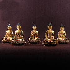 Buddha Statuei Colored Tibet Mikky Altar Handmade Resin  5PCS