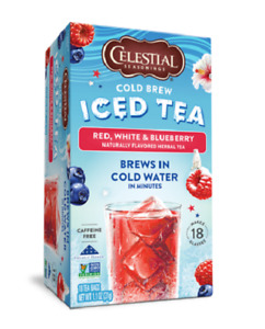 Celestial Seasonings Cold Brew Iced Tea Red, White & Blueberry