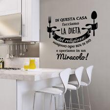 01457 Wall Stickers Adesivi Murali Aforisma La dieta del religioso 60x60 cm