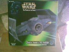 star wars power of the force darth vader's tie fighter vehicle 1996 kenner