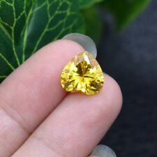 Golden Yellow Sapphire 10.22cts 12mm Heart Cut Shape AAAAA VVS Loose Gemstone