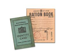 Replica Junior WW2 Ration Book and ID Card - Perfect for school trips.