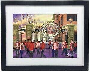 Sunderland AFC Stadium of Light High Quality Framed Art Print. Approx A4