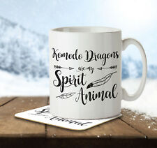 Komodo Dragons are my Spirit Animal - Mug and Coaster By Inky Penguin