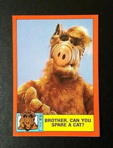 1988 Topps ALF Card 2nd Series - #58 Brother, Can You Spare A Cat?