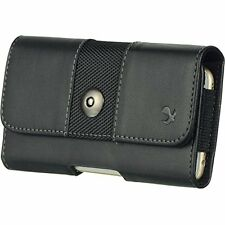 Black4 Horizontal Belt Clip Holster Leather Pouch Case for Samsung Galaxy S5