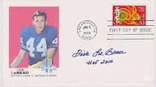 SIGNED DICK LeBEAU FDC AUTOGRAPH FIRST DAY COVER HOF LIONS