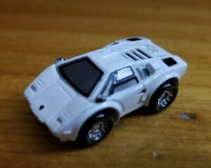 Vintage Micro Machines White Lamborghini Countach Missing Spoiler Galoob, 1986)