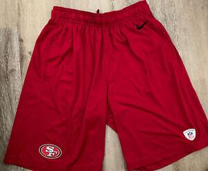 San Francisco 49ers Nike Training Shorts Men Red Dri-Fit Small New