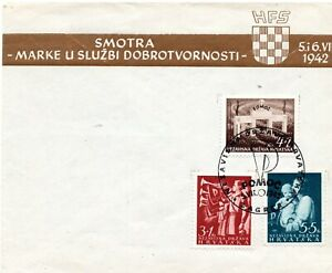 CROATIA NDH 1942 - FOR HELP - FIRST DAY COVER
