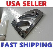 3D 【Superman】 Logo High Quality Emblem Chrome Silver Badge Grill  For CAR TRUCK!