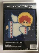 Bucilla Latch Hook Gallery Of Stitches 10x10 Pillow Kit Christmas Angel #15005