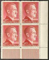 Germany. German Reich. 3RM. Hitler Definitives BLOCK. SG801. 1942. MNH. #SC92