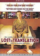 Lost in Translation ~ Bill Murray Scarlett Johansson ~ Dvd dts ~ Free Shipping
