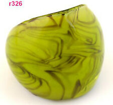 1pc green handwork abstract new art Lampwork Glass ring r326