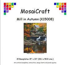 mosaicraft Pixel loisirs créatifs mosaïque Kit 'Moulin en automne' chute d'eau