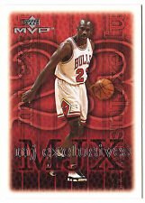 Michael Jordan 99 Upper Deck MVP MJ Exclusive DRIVE TOWARD SIX NBA TITLES Card