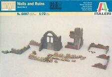 ITALERI 6087: muri, ROVINE & Sacchi di sabbia. 1/72 SCALA. WW2 SECONDA GUERRA MONDIALE PAESAGGIO & terreno